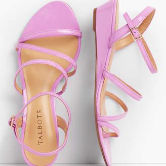 Talbots Capri Multi-Strap Mini-Wedge Sandals - Patent Leather