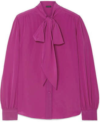 Marc Jacobs Pussy-bow Silk Blouse - Magenta