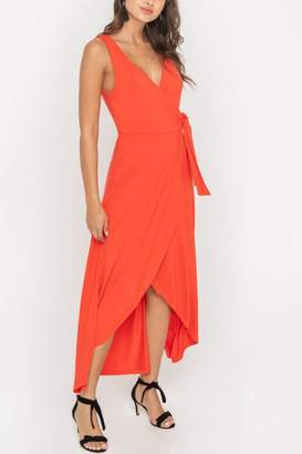 Lush Clothing Wrap-Style Flowy Midi-Dress
