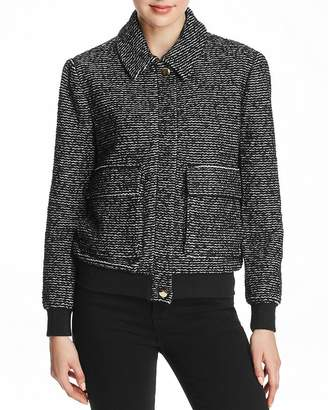 Badgley Mischka Knit Bomber Jacket