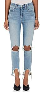 L'Agence Women's High Line Distressed Skinny Jeans-Desert Lig