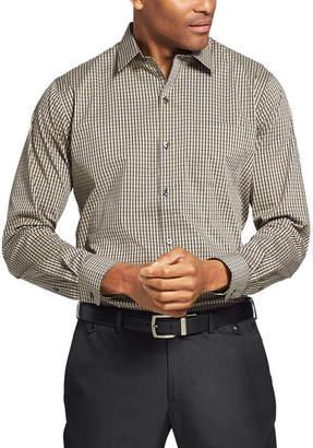Van Heusen Traveler Long Sleeve Slim Stretch Shirt Long Sleeve Grid Button-Front Shirt-Slim