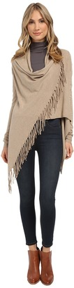 Christin Michaels Evelyn Fringed Wrap Cardigan $98 thestylecure.com