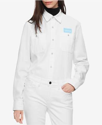 Calvin Klein Jeans Uniform Cotton Button-Up Shirt