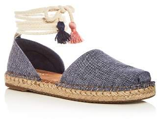 Toms Women's Katalina Chambray Ankle Tie D'Orsay Espadrille Flats