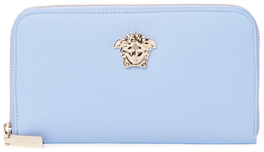 Versace Palazzo Saffiano Leather Zip Around Wallet