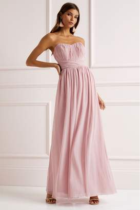 Lipsy Bella Bandeau Maxi Dress - 8 - Pink