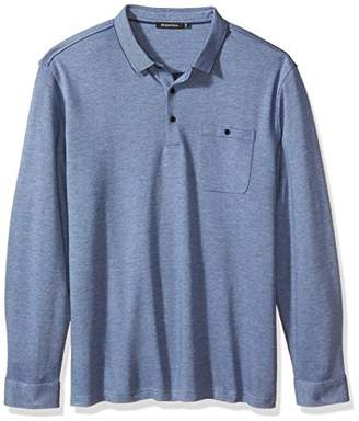 Bugatchi Men's Cotton Long Sleeve Polo Collar Knits