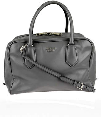 Prada Inside Bauletto Satchel Medium Grey/Green