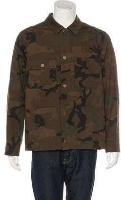 Louis Vuitton x Supreme 2017 Jacquard Camouflage Barn Jacket