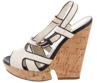 Saint Laurent Platform Cork Wedges