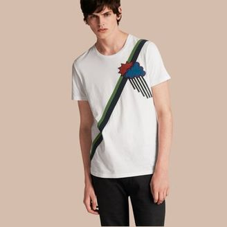 Burberry Weather Appliqué Cotton T-shirt $225 thestylecure.com