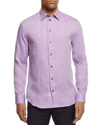 Armani Collezioni Flax Regular Fit Button-Down Shirt