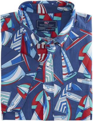 Vineyard Vines Short-Sleeve Spin Around The Island Classic Murray Shirt