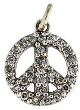 Sydney Evan 14K Diamond Peace Charm