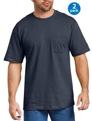 Dickies Big Men's Short Sleeve Heavy Weight Pocket T-Shirt, 2-Pack