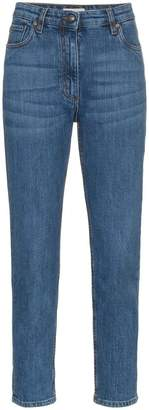 Etro embroidered pocket cropped jeans