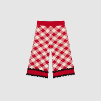 Gucci Children's check wool trousers