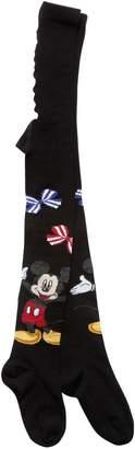 MonnaLisa Mickey Mouse Intarsia Cotton Tights