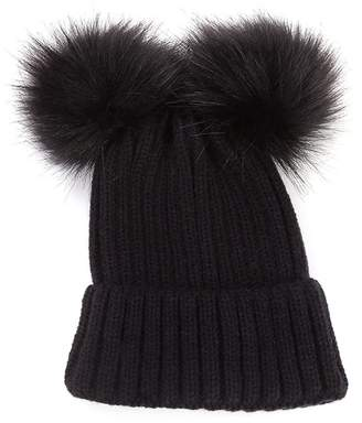 63b61d9653d King Star Winter Knitted Faux Fur Double Pom Beanie Hat Parent