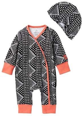 Baby Starters Geo Print Coverall & Hat Set (Baby Girls)