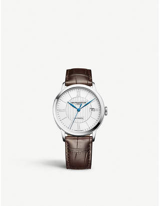 Baume & Mercier M0a10214 Classima stainless steel and leather watch