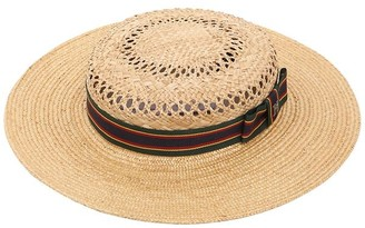 c10900707a7 Couture Kreisi Michelle Straw Boater Hat