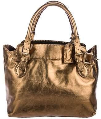 Fendi Metallic Leather Selleria Bag