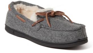 Dearfoams Women's Wool Moccasin Slippers