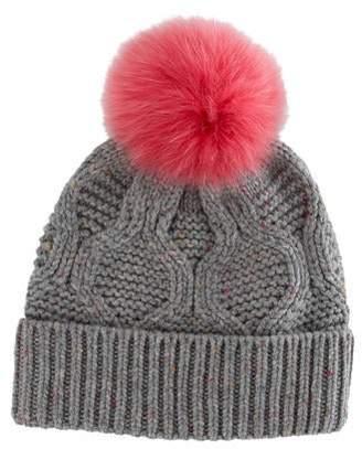 f4aa6491e75b1 Yves Salomon Fur Pom-Pom Hat