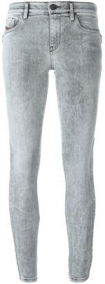 Diesel side zip skinny jeans $252.69 thestylecure.com