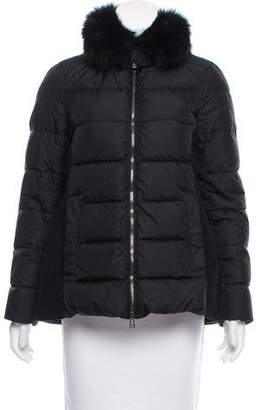Belstaff Fur-Trimmed Down Jacket