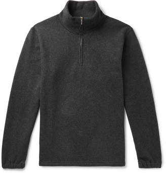 De Bonne Facture Organic Cotton-Fleece Half-Zip Sweater