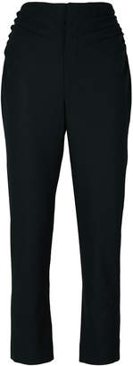 gathered side detail trousers