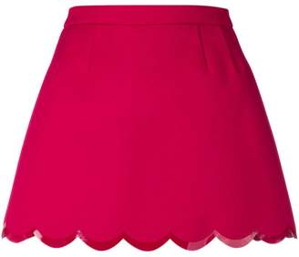 RED Valentino scalloped hem mini skirt