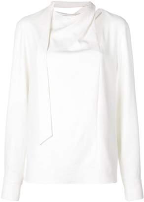 Tibi chalky drape tie blouse