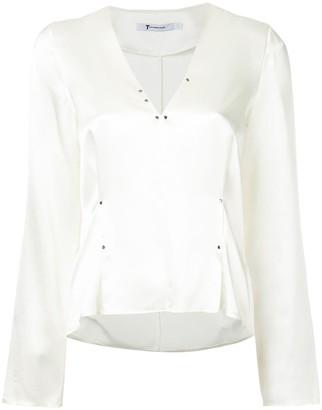 Alexander Wang rivet embellished blouse