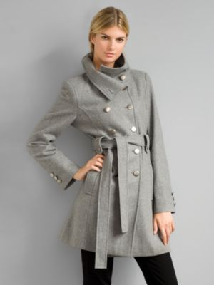City Style Wool Captain's Coat