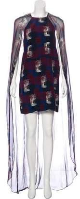 Jenni Kayne Silk Cape Dress