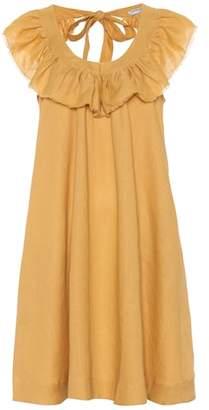 Three Graces London Faye linen minidress