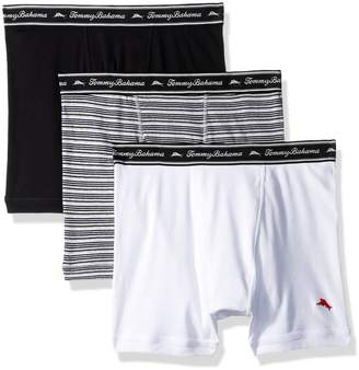 Tommy Bahama Men's Breathe Easy 3 Pack Boxer Brief-Multi Black Stripe