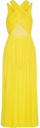 Emilio Pucci - Layered Stretch-jersey Dress - Bright yellow $1,420 thestylecure.com