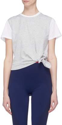 Coolmax LNDR 'Tuck' tie-up waist cropped T-shirt