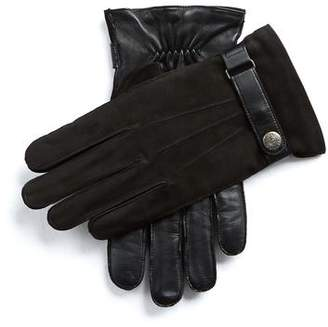 Dents Gloves Dents Marlborough Wool Lined Nubuck & Leather Gloves in Black