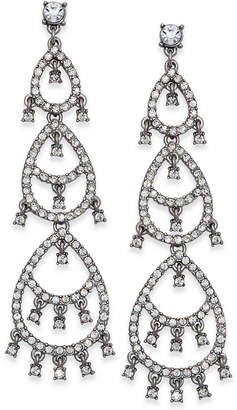 INC International Concepts I.n.c. Silver-Tone Crystal Pave Dangle Drop Earrings