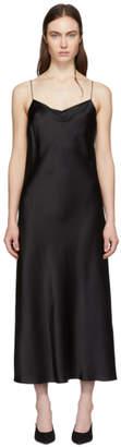 Joseph Black Silk Satin Stone Dress