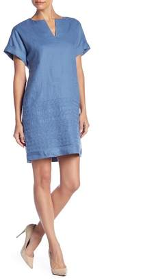 Lafayette 148 New York Fabian Linen Embroidered Dress (Petite)