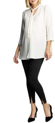Maternal America Tie Neck Maternity Top