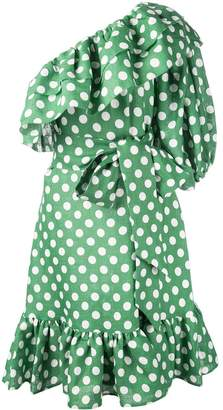 Lisa Marie Fernandez polka dot ruffle dress
