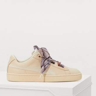 Puma Heart scarf detail sneakers